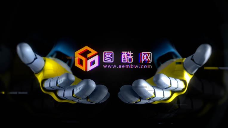 机械手动画科技风logo展示
