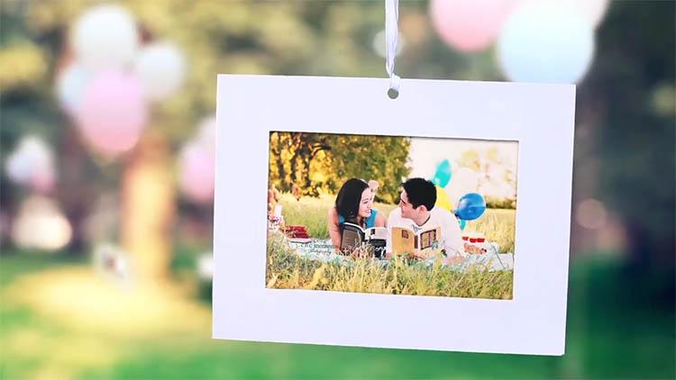 小清新温馨唯美 爱情婚礼婚庆暖场开场AE模板