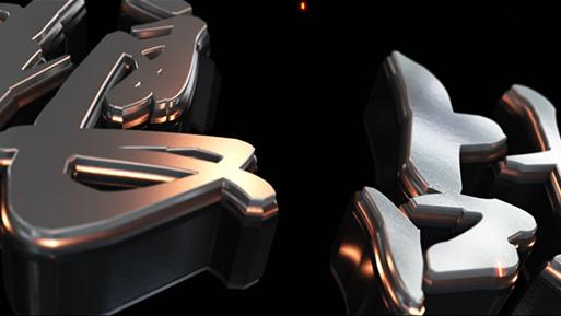 大气3D金属质感文字开场ae模板