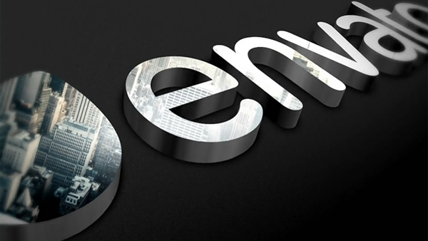 大气质感三维标志3D LOGO演绎片头AE模板
