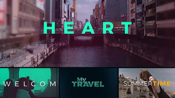 AE模板动感时尚文字快闪旅游活动记录视频