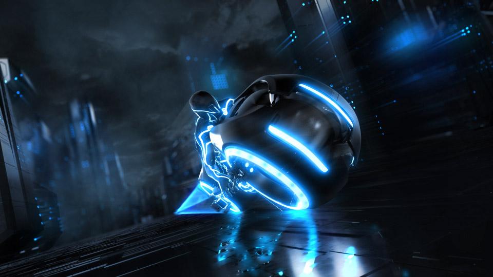 未来科幻飞摩LOGO动画
