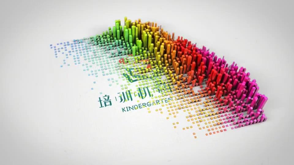 抽象柱形动画logo揭示AE模板