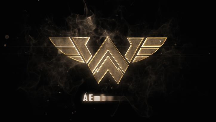 金属质感logo标志演绎动画AE模板
