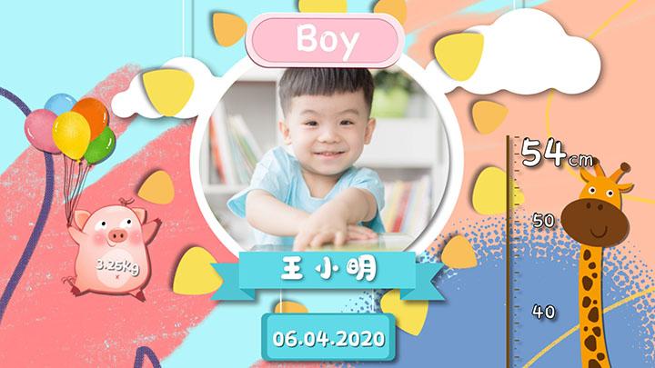 小清新儿童卡通生日相册AE模板生日快乐生日宴宣传片